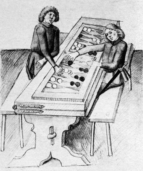 Drawing - Backgammon, 15th Century by Granger