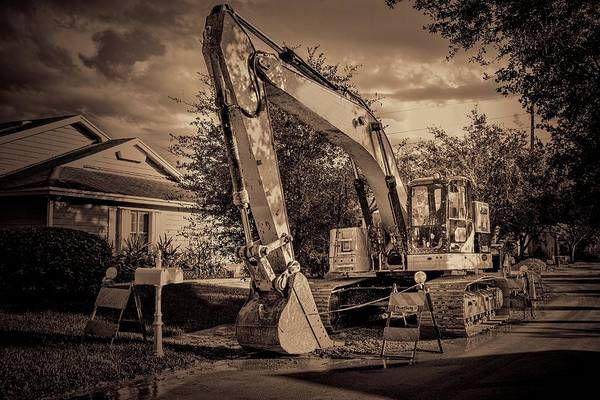 Photograph - Backhoe-1 by Rudy Umans