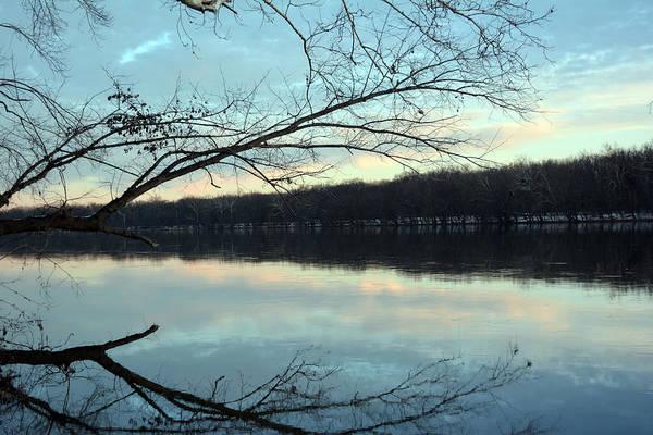 Backlit Skies On The Potomac River Art Print by Bill Helman