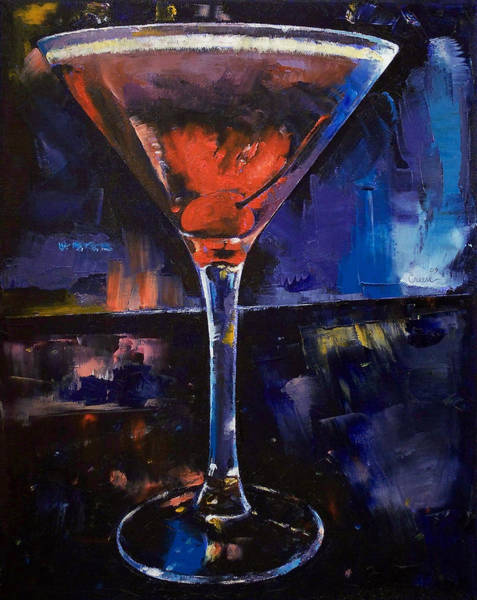 Martini Glasses Painting - Backstage Martini by Michael Creese