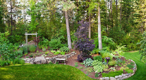 Loon Photograph - Backyard Garden In Loon Lake, Spokane by Panoramic Images