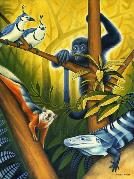 Wall Art - Painting - Backyard Jungle by Nathan Miller