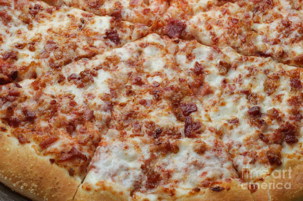 Photograph - Bacon Pizza 1 - Pizzeria - Pizza Shoppe by Andee Design
