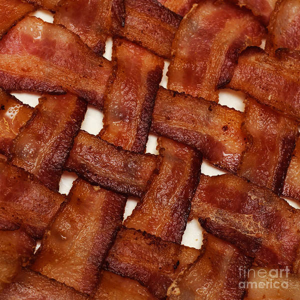 Photograph - Bacon Weave Square by Andee Design