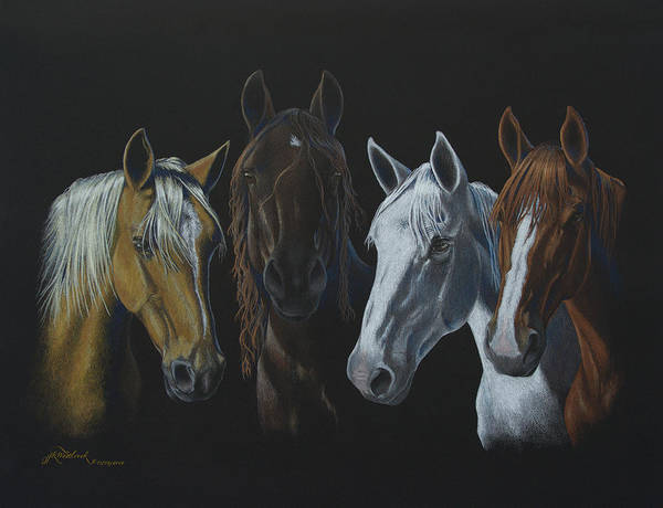 Drawing - Bad Boys Of Horsefeathers Farm by Jill Westbrook