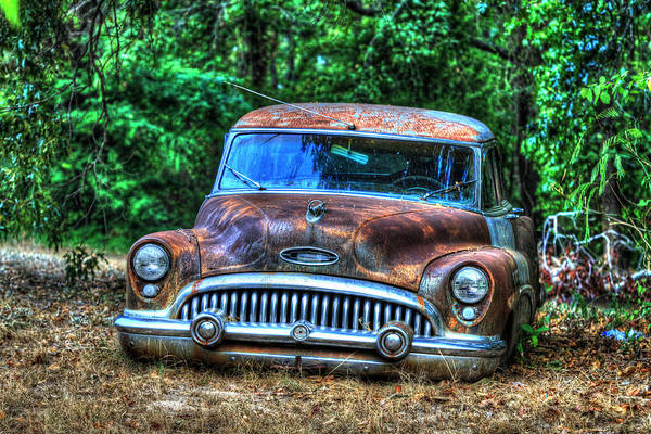 Wrecking Yard Photograph - Bad Buick by Danny Pickens