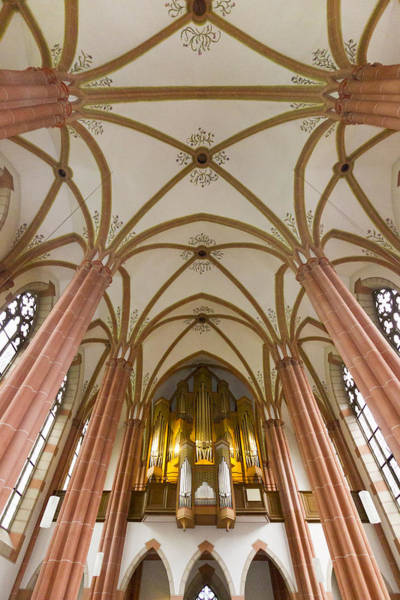 Photograph - Bad Ems Organ And Ceiling by Jenny Setchell