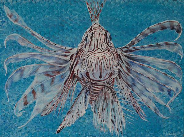 Painting - Bad Fish by Nancy Lauby