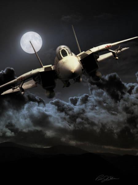 Bird Strike Wall Art - Digital Art - Bad Moon Rising by Peter Chilelli