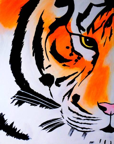 Painting - Bad Tiger  by Robert Francis