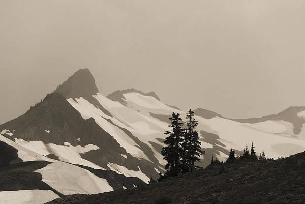 Fog In Mountains Art Print