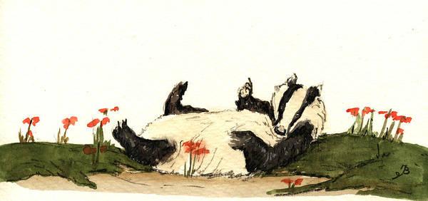 Superhero Painting - Badger by Juan  Bosco