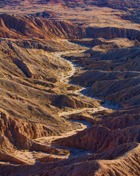Font Photograph - Badlands Anza Borrego Desert by Melinda Moore