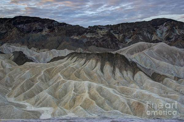 Furnace Creek Photograph - Badlands At Sunrise. Death Valley by Juli Scalzi