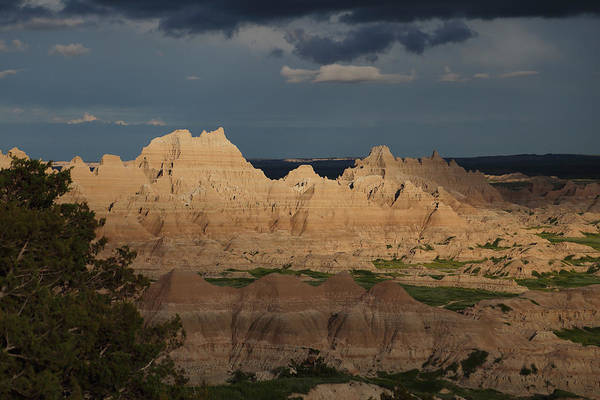 Photograph - Badlands Evening Light by Jean Clark