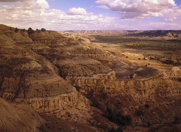 North Dakota Badlands Wall Art - Photograph - Badlands In Theodore Roosevelt National by Tim Fitzharris
