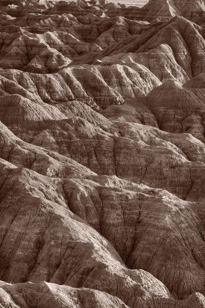 Deserts Photograph - Badlands Light Bw by Steve Gadomski