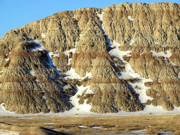 Photograph - Badlands Wall by Fiskr Larsen