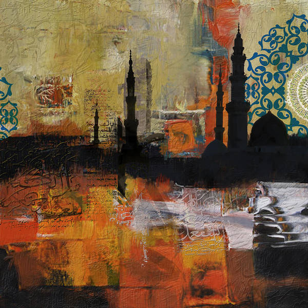 Punjab Painting - Badshahi Mosque Motives by Corporate Art Task Force