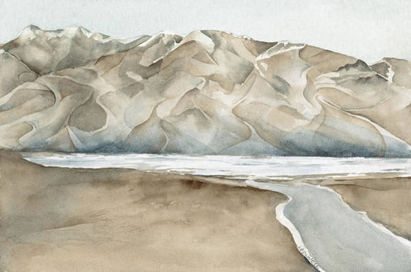 Death Valley Painting - Badwater Salt Flats by Lynne Bolwell