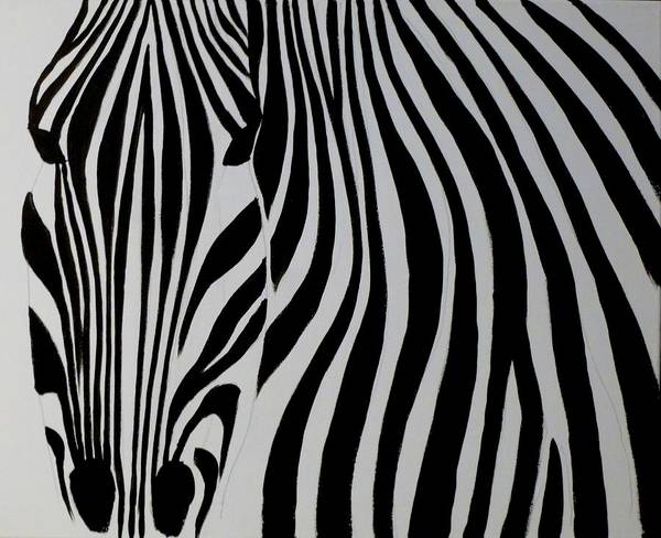Painting - Badzebra by Robert Francis