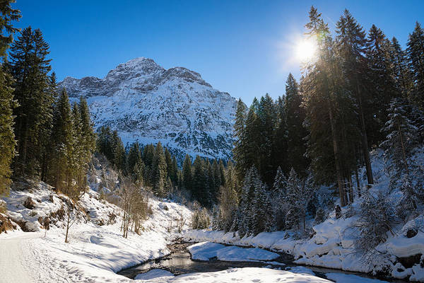 Photograph - Baergunt Valley In Kleinwalsertal Austria In Winter by Matthias Hauser
