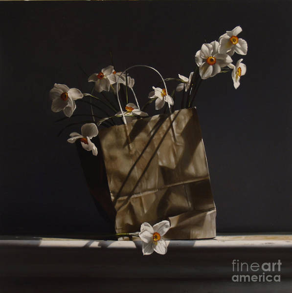 Wall Art - Painting - Bag Of Narcissus by Lawrence Preston