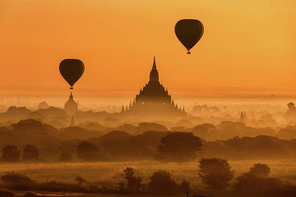 Wall Art - Photograph - Bagan Myanmar by Monthon Wa