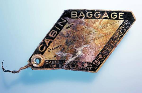 Tag Photograph - Baggage Ticket From The Titanic by Patrick Landmann/science Photo Library