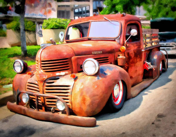 Custom Truck Painting - Bagged Out Dodge by Michael Pickett