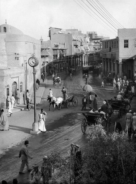 Baghdad Wall Art - Photograph - Baghdad Street Scene by Library Of Congress/science Photo Library