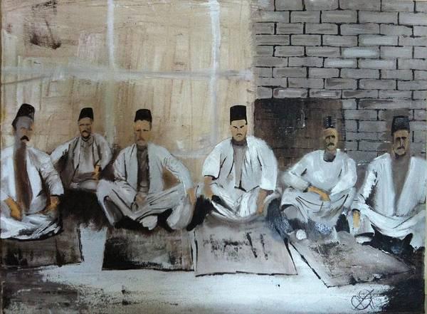 Baghdad Painting - Baghdadi Jews 1920's by Rami Besancon