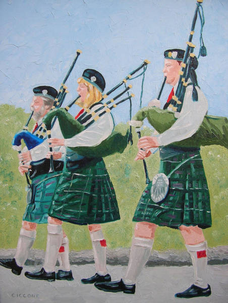 Painting - Bagpipers by Jill Ciccone Pike