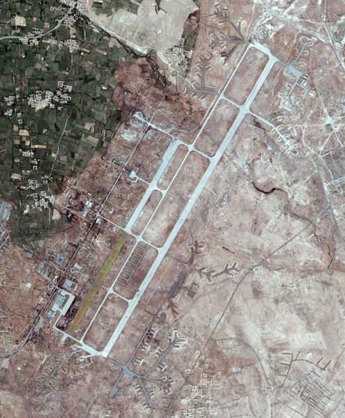 Runway Photograph - Bagram Airbase by Geoeye/science Photo Library