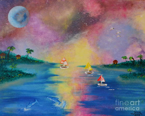 Painting - Bahama Sunset by Denise Tomasura