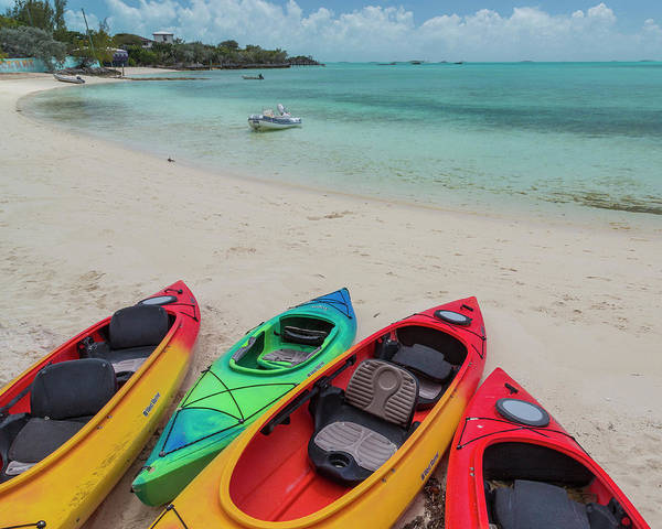 Kayaks Wall Art - Photograph - Bahamas, Exuma Island by Jaynes Gallery