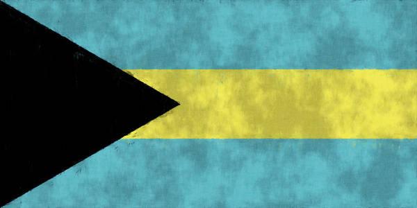 Carribean Islands Digital Art - Bahamas Flag by World Art Prints And Designs