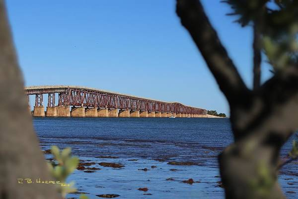 Photograph - Bahia Honda Bridge Framed by R B Harper