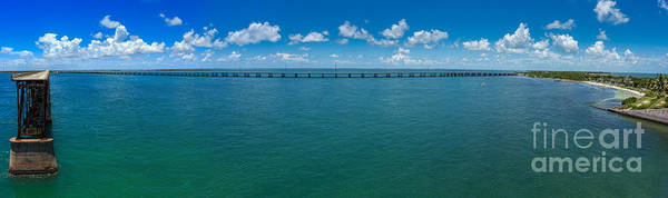 Photograph - Bahia Honda Bridge Panorama by Hans- Juergen Leschmann