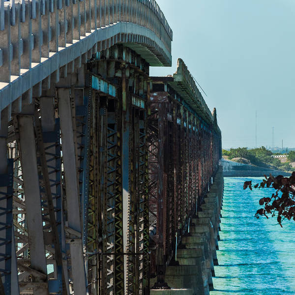 Photograph - Bahia Honda Bridge Patterns by Ed Gleichman