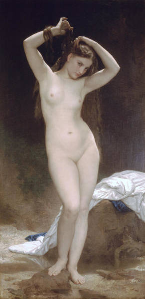 Digital Art - Baigneuse Bather by William Bouuguereau