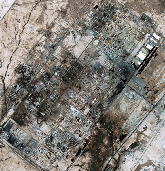 Iraqi Photograph - Baiji Oil Refinery by Geoeye/science Photo Library