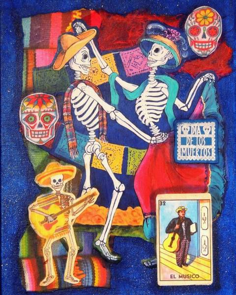 Wall Art - Mixed Media - Bailando Collage by Candy Mayer