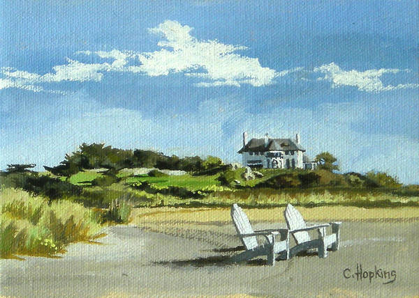 Wall Art - Painting - Bailey's Beach Newport Rhode Island by Christine Hopkins