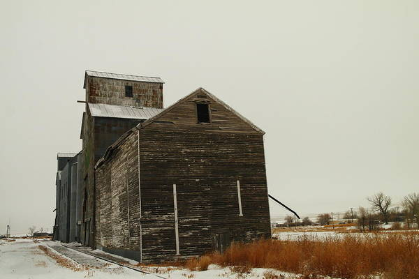 Grain Elevator Photograph - Bainville Montana by Jeff Swan