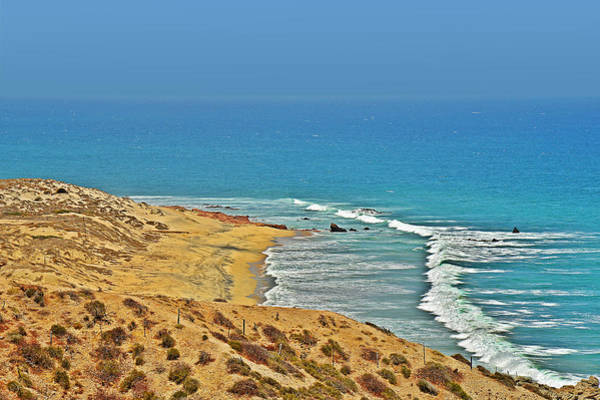 Oceanfront Photograph - Baja California - Desert Meets Ocean by Christine Till