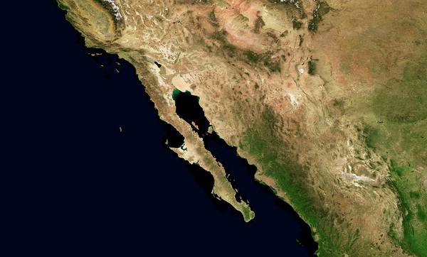Sea Of Cortez Photograph - Baja California Peninsula by Nasa/science Photo Library