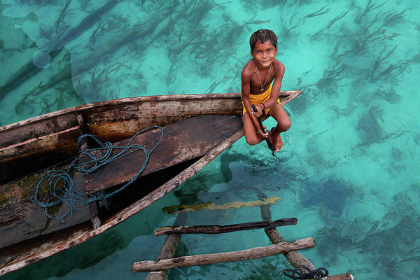 Wall Art - Photograph - Bajau Boy by Hesham Alhumaid