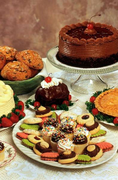 Foodstuff Photograph - Baked Desserts And Cakes by Peggy Greb/us Department Of Agriculture
