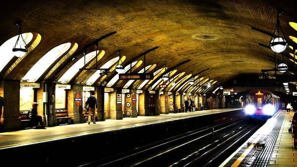 Wall Art - Photograph - Baker Street London Underground by Mark Rogan